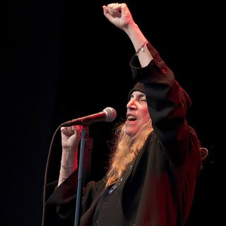 Patti Smith Performing Live on Stage