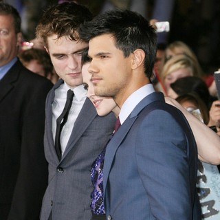 Robert Pattinson, Kristen Stewart, Taylor Lautner in The Twilight Saga's Breaking Dawn Part I World Premiere