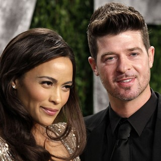 Robin Thicke in 2013 Vanity Fair Oscar Party - Arrivals - patton-thicke-2013-vanity-fair-oscar-party-01