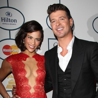 Paula Patton, Robin Thicke in 2014 Pre-Grammy Gala and Grammy Salute to Industry Icons - Clive Davis