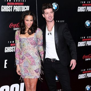 Paula Patton, Robin Thicke in New York Premiere of Mission: Impossible Ghost Protocol