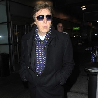Paul McCartney in Paul McCartney Arrives at JFK Airport