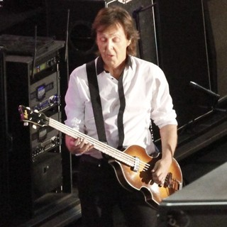 Paul McCartney in Sir Paul McCartney Performs on Hollywood Blvd for The Jimmy Kimmel Live!