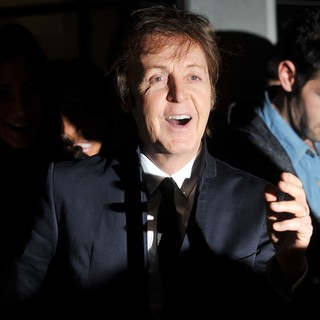 Paul McCartney in Paul McCartney, Stella McCartney and Nancy Shevell Store Christmas Lighting