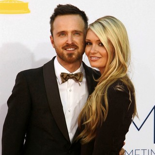 Aaron Paul, Lauren Parsekian in 64th Annual Primetime Emmy Awards - Arrivals