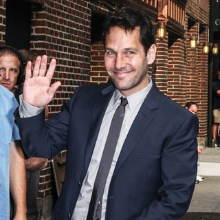 Paul Rudd in Celebrities for The Late Show with David Letterman