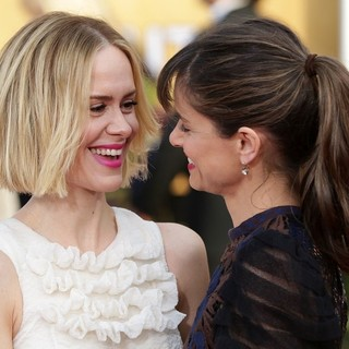 Sarah Paulson, Amanda Peet in The 20th Annual Screen Actors Guild Awards - Arrivals