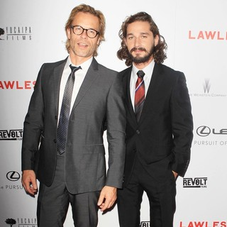 Guy Pearce, Shia LaBeouf in The Premiere of Lawless