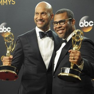 Jordan Peele, Keegan-Michael Key in 68th Emmy Awards - Press Room