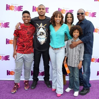 Rodney Peete Jr., Robinson James Peete, Holly Robinson Peete, Ryan Elizabeth Peete, Roman Peete, Rodney Peete in Los Angeles Premiere of Home Presented by 20th Century Fox and DreamWorks Animation