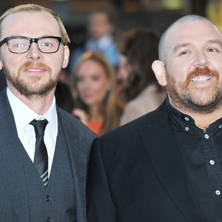 Simon Pegg, Nick Frost in The UK Film Premiere of The Adventures of Tintin: The Secret of the Unicorn - Arrivals