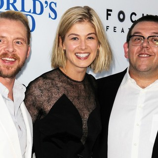 Simon Pegg, Rosamund Pike, Nick Frost in The World's End Hollywood Premiere