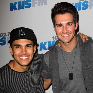 Carlos Pena Jr., James Maslow, Big Time Rush in KIIS FM's Jingle Ball 2012 - Arrivals
