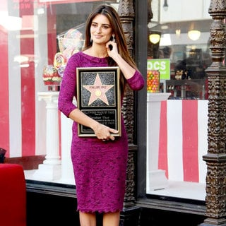 Penelope Cruz in Penelope Cruz Receives A Star on The Hollywood Walk of Fame