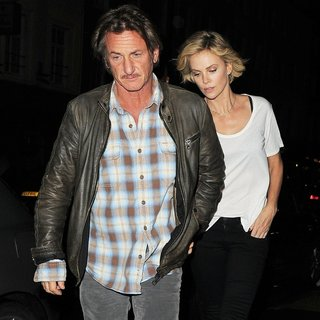 Sean Penn - Charlize Theron and Sean Penn Enjoy Dinner at Roka