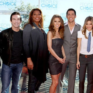 Michael Chiklis, Jeff Probst, Queen Latifah, Audrina Patridge, Zachary Levi, AnnaLynne McCord, Malin Akerman in 2011 People's Choice Awards Nominations Announcement