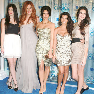 Kylie Jenner, Khloe Kardashian, Kim Kardashian, Kourtney Kardashian, Kendall Jenner in 2011 People's Choice Awards - Arrivals