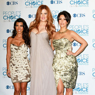 Kourtney Kardashian, Khloe Kardashian, Kim Kardashian in 2011 People's Choice Awards - Press Room