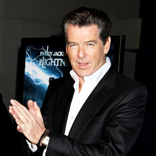 Pierce Brosnan in The Premiere of 'Percy Jackson & the Olympians: The Lightning Thief'