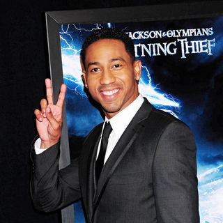 Brandon T. Jackson in The Premiere of 'Percy Jackson & the Olympians: The Lightning Thief'