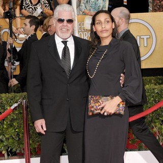 Ron Perlman, Blake Perlman in The 20th Annual Screen Actors Guild Awards - Arrivals