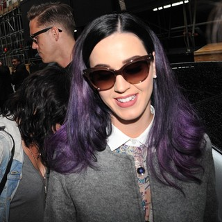 Robert Ackroyd, Katy Perry in Katy Perry and Robert Ackroyd Seen Arriving at A Studio