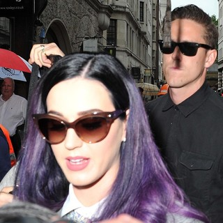 Katy Perry, Robert Ackroyd in Katy Perry and Robert Ackroyd Seen Arriving at A Studio