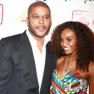Tyler Perry, Gelila Bekele in The 2nd Annual Steve Harvey Foundation Gala