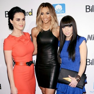 Carly Rae Jepsen in 2012 Billboard Women in Music Luncheon - Arrivals - perry-ciara-jepsen-2012-billboard-women-in-music-luncheon-02