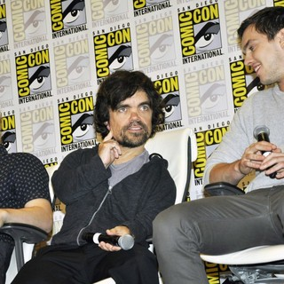 Evan Peters, Peter Dinklage, Nicholas Hoult in Comic-Con International 2013 - X-Men: Days of Future Past - Press Conference