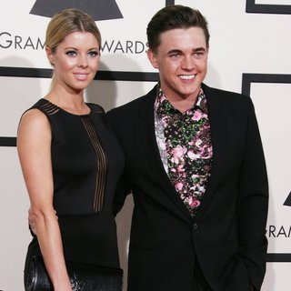 Katie Peterson, Jesse McCartney in The 56th Annual GRAMMY Awards - Arrivals