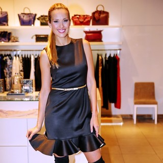 Petra Nemcova Signs Her Charity Candles in A Luxury Prague Boutique