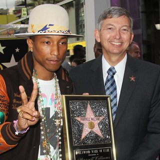 Pharrell Williams - Pharrell Williams Honored with A Star on The Hollywood Walk of Fame