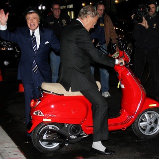 Regis Philbin, David Letterman in Regis Philbin Is Given A Vespa Scooter by David Letterman - The Late Show with David Letterman