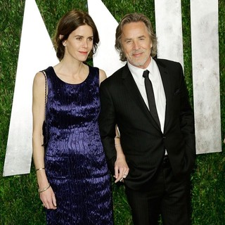 Kelley Phleger, Don Johnson in 2013 Vanity Fair Oscar Party - Arrivals