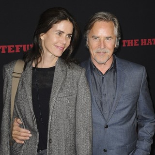 Kelley Phleger, Don Johnson in Premiere of The Weinstein Company's The Hateful Eight - Red Carpet Arrivals