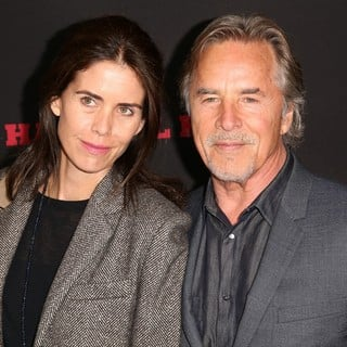 Kelley Phleger, Don Johnson, Jesse Johnson in Premiere of The Weinstein Company's The Hateful Eight - Red Carpet Arrivals
