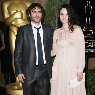 Joaquin Phoenix, Rain Phoenix in 85th Academy Awards Nominees Luncheon