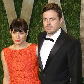 Casey Affleck in 2013 Vanity Fair Oscar Party - Arrivals - phoenix-affleck-2013-vanity-fair-oscar-party-01