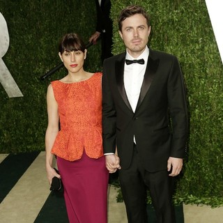 Casey Affleck in 2013 Vanity Fair Oscar Party - Arrivals - phoenix-affleck-2013-vanity-fair-oscar-party-02