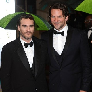 Joaquin Phoenix, Bradley Cooper in The 2013 EE British Academy Film Awards - Arrivals