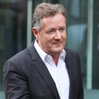 Piers Morgan Outside ITV Studios