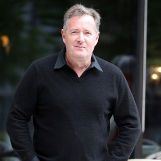 Piers Morgan Outside The ITV Studios