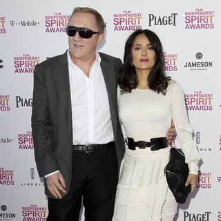 Francois-Henri Pinault, Salma Hayek in 2013 Film Independent Spirit Awards - Arrivals