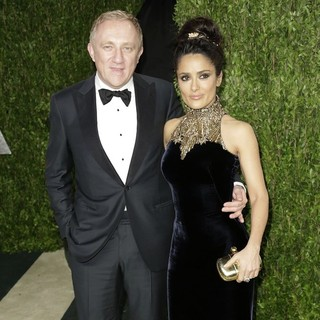 Francois-Henri Pinault, Salma Hayek in 2013 Vanity Fair Oscar Party - Arrivals
