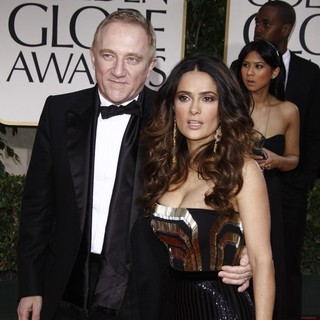 Francois-Henri Pinault, Salma Hayek in The 69th Annual Golden Globe Awards - Arrivals