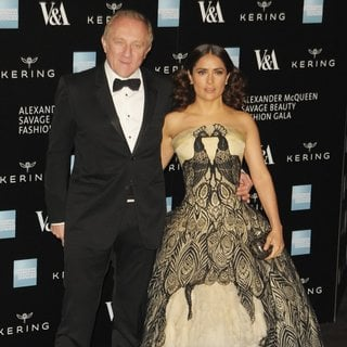 Salma Hayek - Alexander McQueen: Savage Beauty - Private View - Red Carpet Arrivals