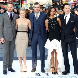 Chris Pine, Alice Eve, Zachary Quinto, Zoe Saldana, Benedict Cumberbatch in U.K. Premiere of Star Trek Into Darkness - Arrivals