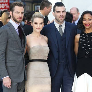 Chris Pine, Alice Eve, Zachary Quinto, Zoe Saldana in U.K. Premiere of Star Trek Into Darkness - Arrivals