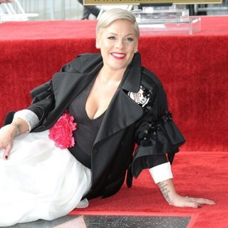 Pink in Pink Is Honoured with A Star on The Hollywood Walk of Fame
